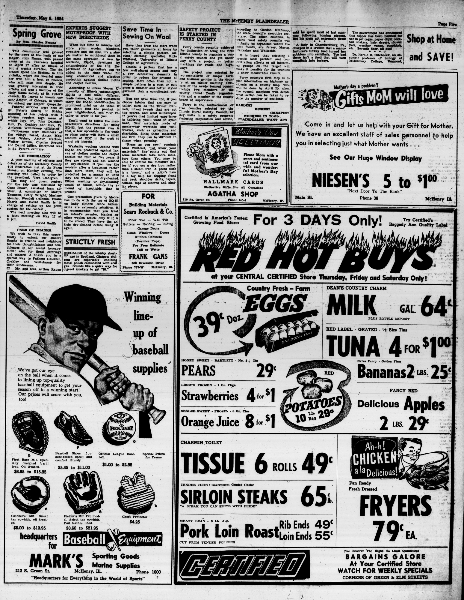 McHenry Plaindealer (McHenry, IL), 6 May 1954