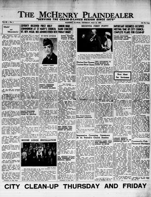 McHenry Plaindealer (McHenry, IL), 13 May 1954