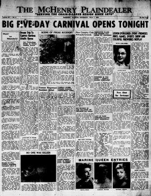 McHenry Plaindealer (McHenry, IL), 1 Jul 1954