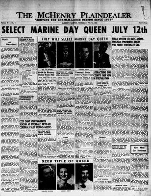 McHenry Plaindealer (McHenry, IL), 8 Jul 1954