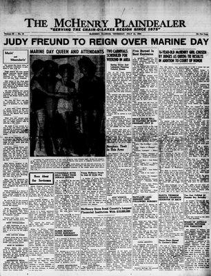 McHenry Plaindealer (McHenry, IL), 15 Jul 1954
