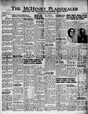 McHenry Plaindealer (McHenry, IL), 22 Jul 1954