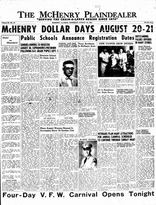 McHenry Plaindealer (McHenry, IL), 19 Aug 1954
