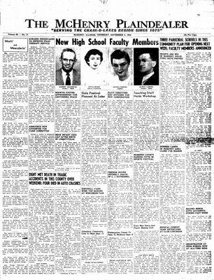 McHenry Plaindealer (McHenry, IL), 2 Sep 1954