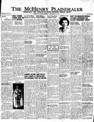 McHenry Plaindealer (McHenry, IL), 16 Sep 1954