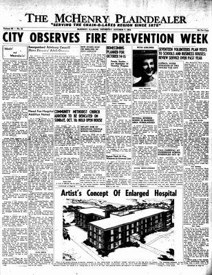 McHenry Plaindealer (McHenry, IL), 7 Oct 1954