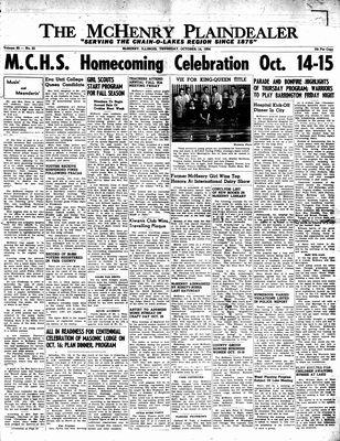 McHenry Plaindealer (McHenry, IL), 14 Oct 1954