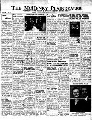 McHenry Plaindealer (McHenry, IL), 21 Oct 1954