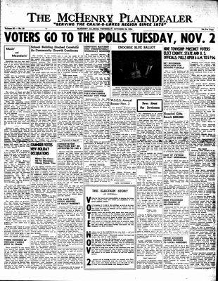 McHenry Plaindealer (McHenry, IL), 28 Oct 1954