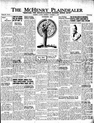 McHenry Plaindealer (McHenry, IL), 11 Nov 1954