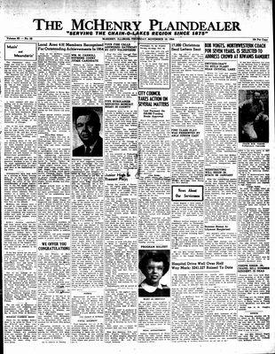 McHenry Plaindealer (McHenry, IL), 18 Nov 1954