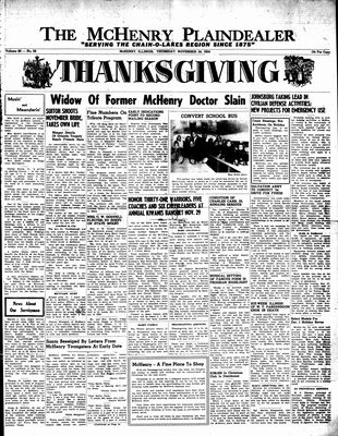 McHenry Plaindealer (McHenry, IL), 24 Nov 1954