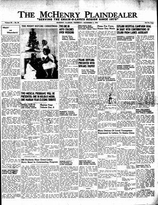 McHenry Plaindealer (McHenry, IL), 2 Dec 1954