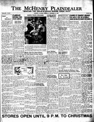 McHenry Plaindealer (McHenry, IL), 16 Dec 1954