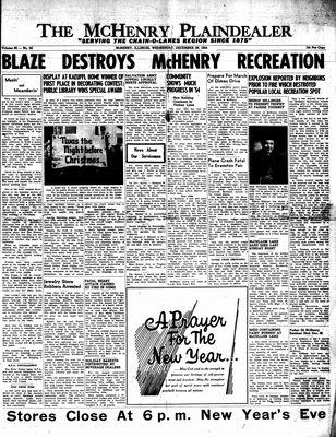 McHenry Plaindealer (McHenry, IL), 29 Dec 1954