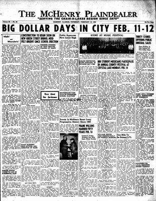McHenry Plaindealer (McHenry, IL), 10 Feb 1955
