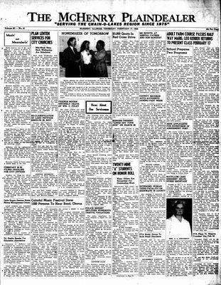 McHenry Plaindealer (McHenry, IL), 17 Feb 1955