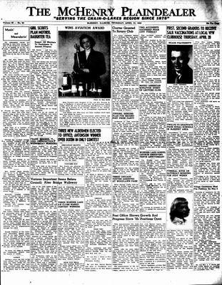 McHenry Plaindealer (McHenry, IL), 21 Apr 1955
