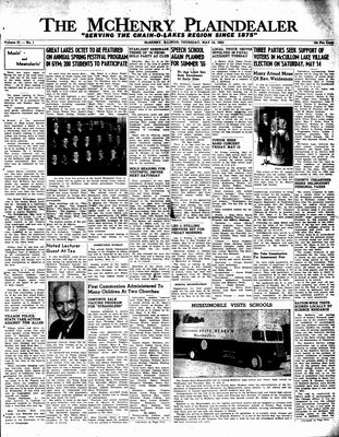 McHenry Plaindealer (McHenry, IL), 12 May 1955