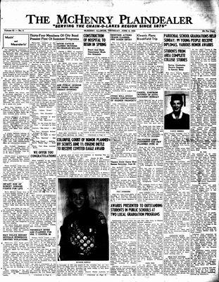 McHenry Plaindealer (McHenry, IL), 9 Jun 1955