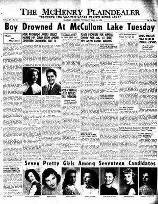 McHenry Plaindealer (McHenry, IL), 14 Jul 1955
