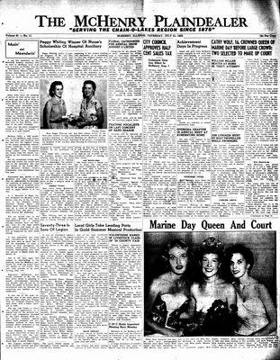 McHenry Plaindealer (McHenry, IL), 21 Jul 1955