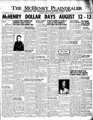 McHenry Plaindealer (McHenry, IL), 11 Aug 1955