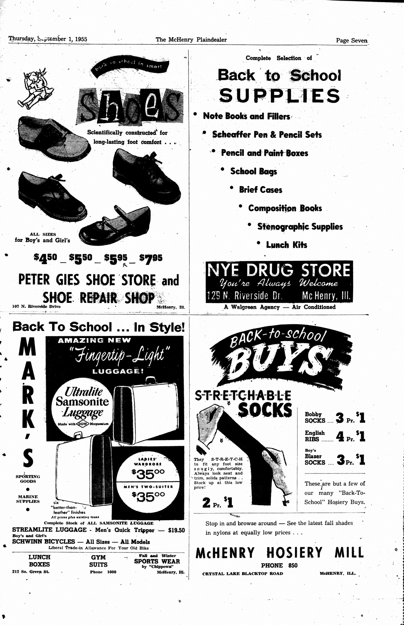 McHenry Plaindealer (McHenry, IL), 1 Sep 1955