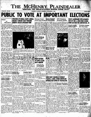 McHenry Plaindealer (McHenry, IL), 1 Dec 1955