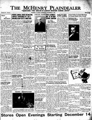 McHenry Plaindealer (McHenry, IL), 8 Dec 1955