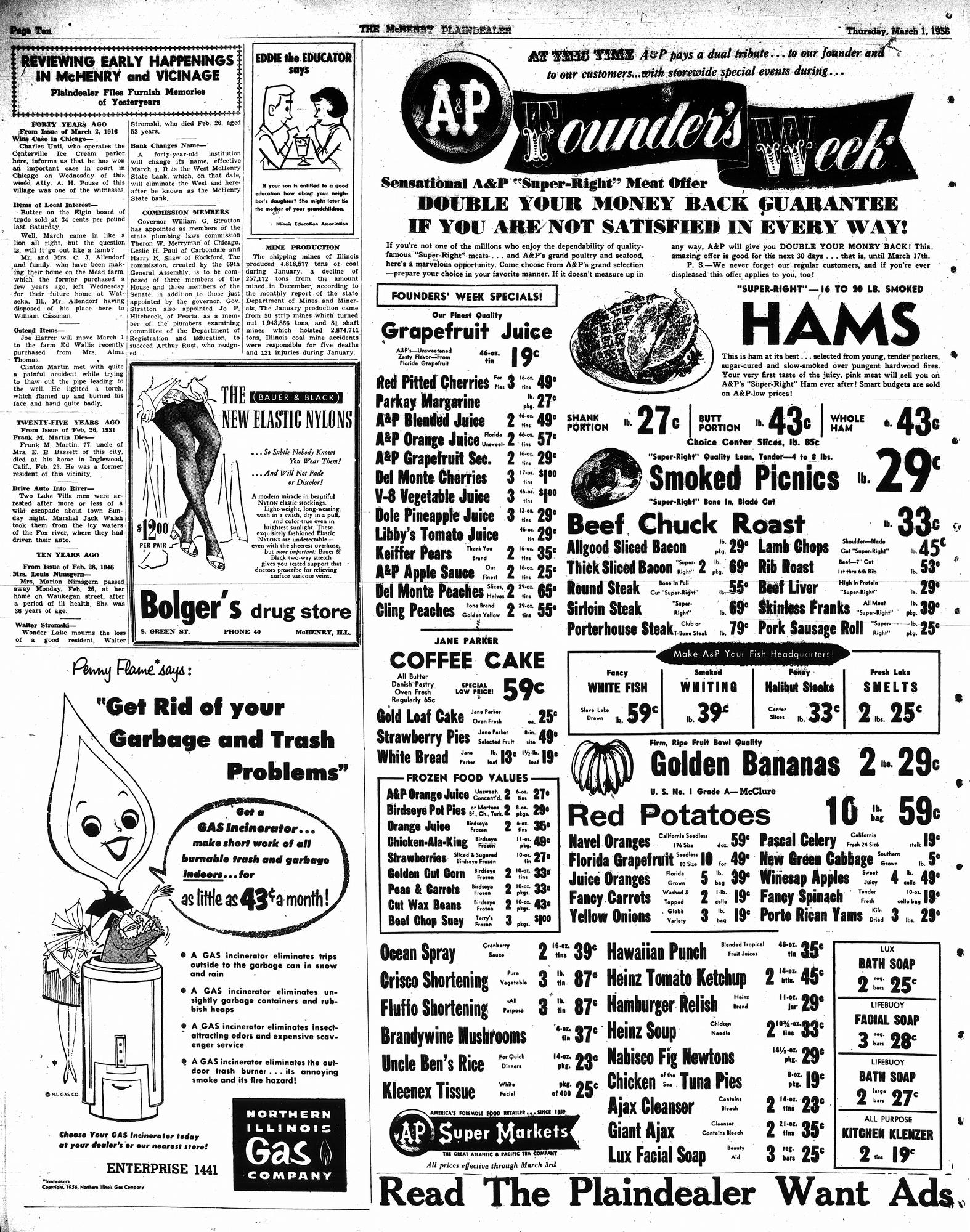 McHenry Plaindealer (McHenry, IL), 1 Mar 1956