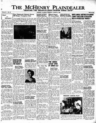 McHenry Plaindealer (McHenry, IL), 8 Mar 1956
