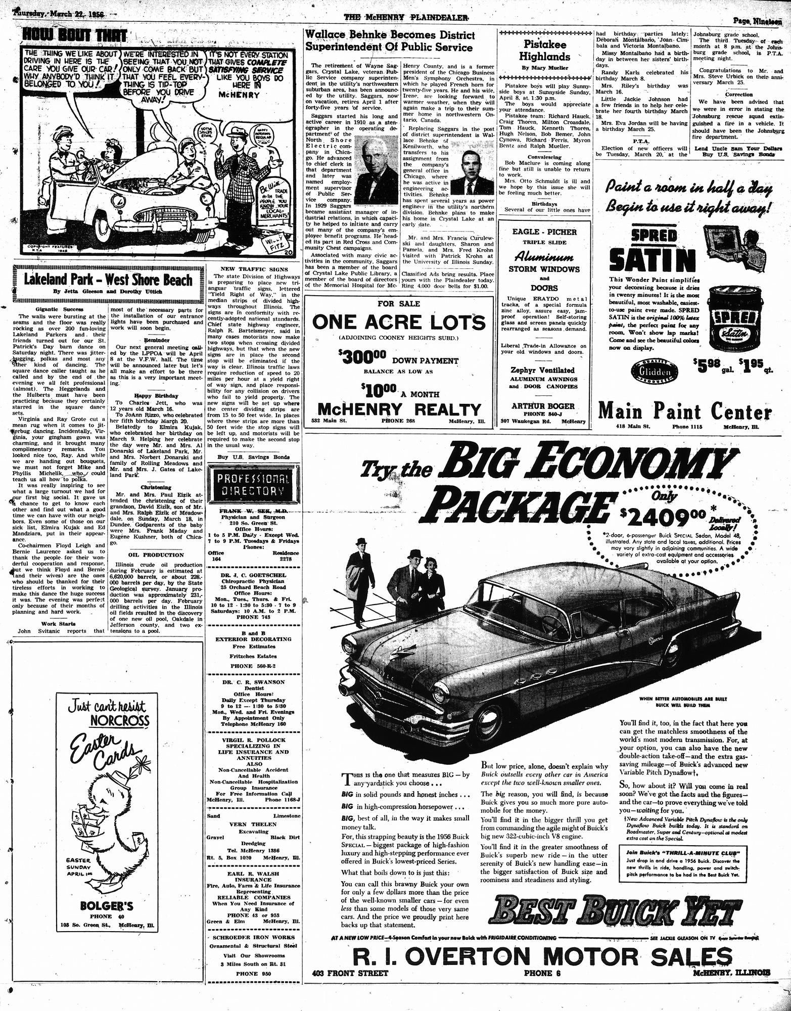 McHenry Plaindealer (McHenry, IL), 22 Mar 1956
