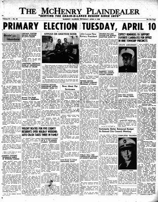 McHenry Plaindealer (McHenry, IL), 5 Apr 1956
