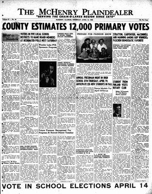 McHenry Plaindealer (McHenry, IL), 12 Apr 1956