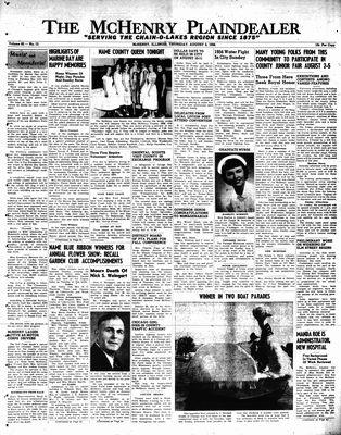McHenry Plaindealer (McHenry, IL), 2 Aug 1956