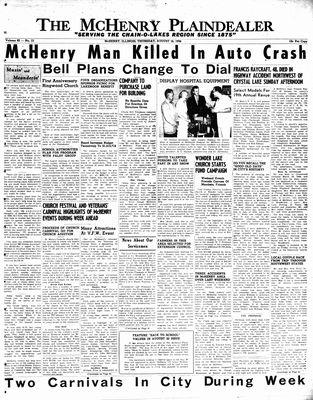 McHenry Plaindealer (McHenry, IL), 16 Aug 1956