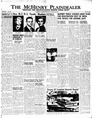 McHenry Plaindealer (McHenry, IL), 23 Aug 1956