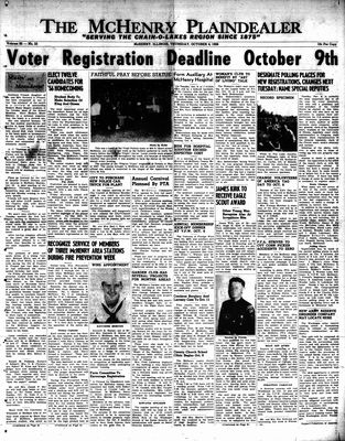 McHenry Plaindealer (McHenry, IL), 4 Oct 1956