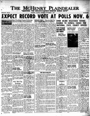 McHenry Plaindealer (McHenry, IL), 1 Nov 1956