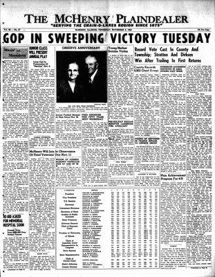 McHenry Plaindealer (McHenry, IL), 8 Nov 1956