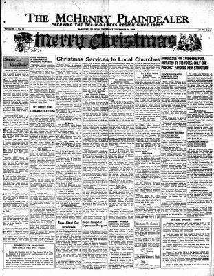 McHenry Plaindealer (McHenry, IL), 20 Dec 1956
