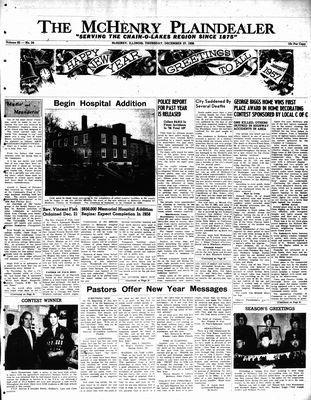 McHenry Plaindealer (McHenry, IL), 27 Dec 1956