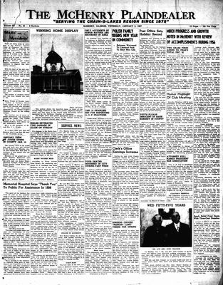 McHenry Plaindealer (McHenry, IL), 3 Jan 1957