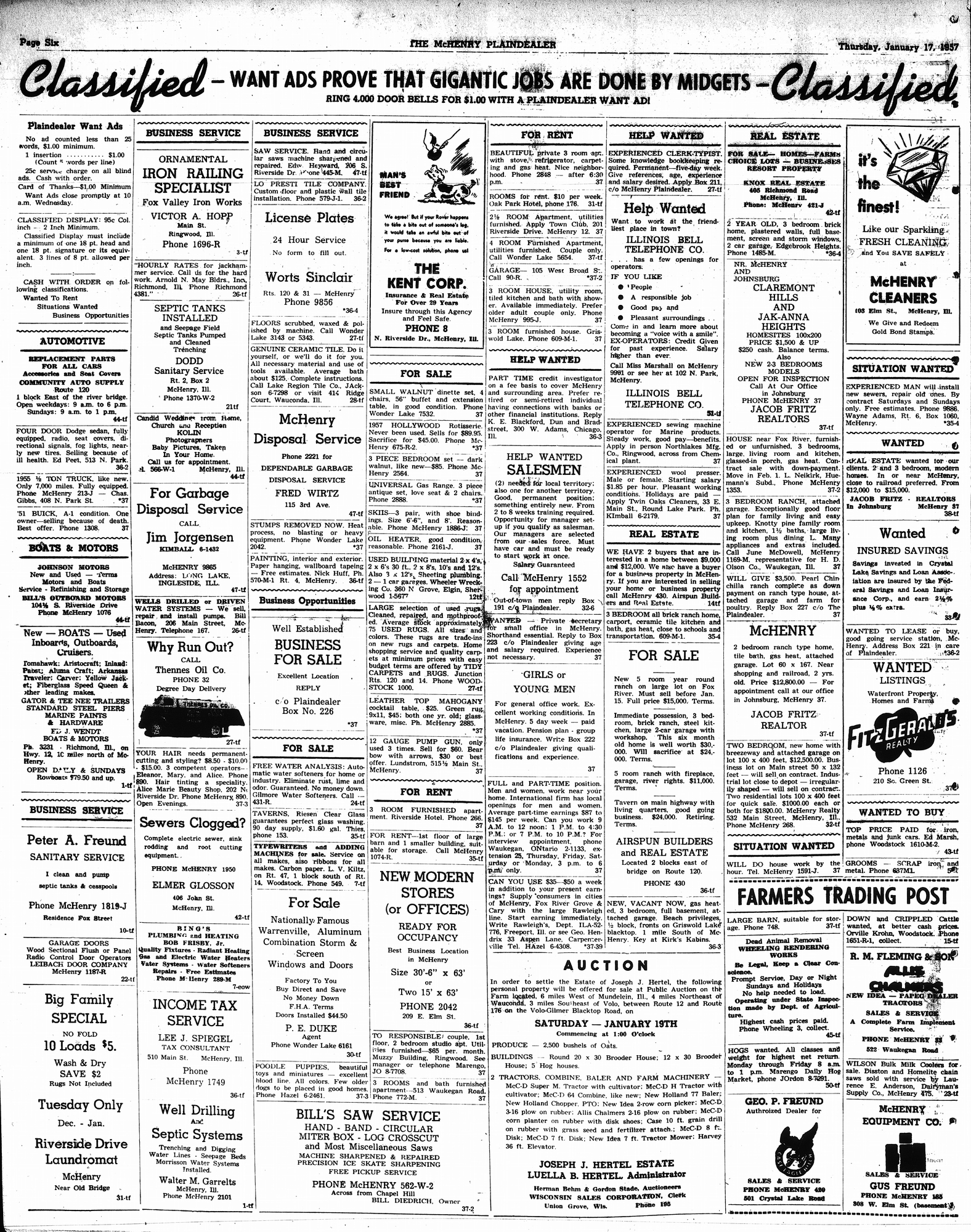 McHenry Plaindealer (McHenry, IL), 17 Jan 1957