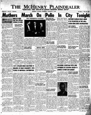 McHenry Plaindealer (McHenry, IL), 31 Jan 1957