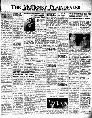 McHenry Plaindealer (McHenry, IL), 14 Feb 1957