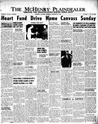 McHenry Plaindealer (McHenry, IL), 21 Feb 1957