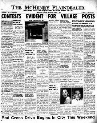McHenry Plaindealer (McHenry, IL), 7 Mar 1957