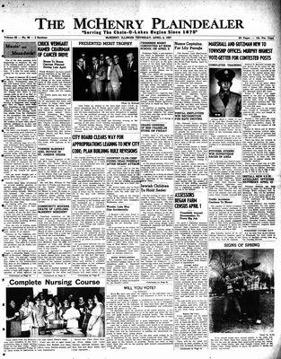 McHenry Plaindealer (McHenry, IL), 4 Apr 1957